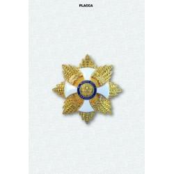 Placca OMRI Gran Croce Decorata di Gran Cordone