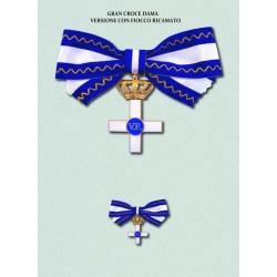 Set completo MS Gran Croce Dama con fiocco ricamato